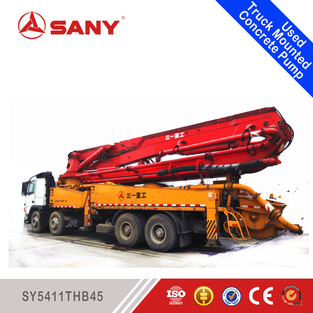 SANY Used Concrete Pump 2005 Year Concrete Pump 45m Volvo Chassis Used Concrete Pump Trucks Sale