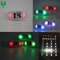 Personal Name Print Colored LED Bracelet, LED Bangle For Wedding Party