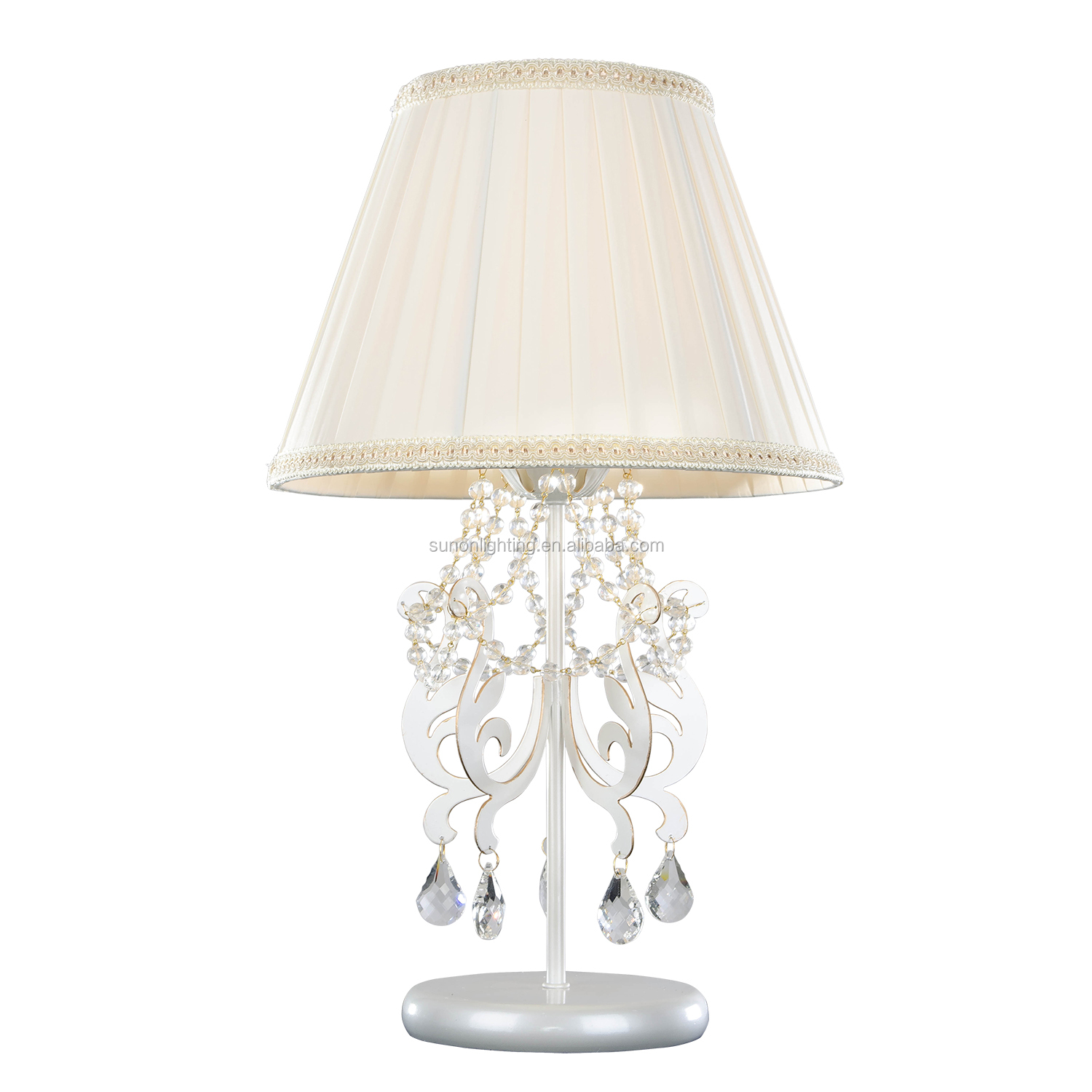 European design indoor princess indoor family crystal table lamp