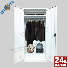 Metal Knock Down Wardrobe Furniture/Clothes Wardrobe Furniture