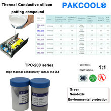 PAKCOOL star insulation thermally conductive silicon potting compound for LED potting