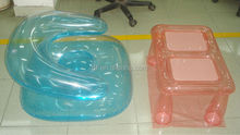 clear promotion water chair/inflatable water chair suit with table/promotion inflatable water chair suit