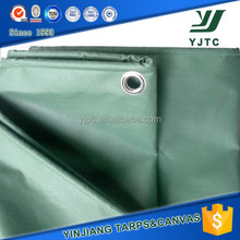 flame retardant anti sun green pvc tarpaulin for Heavy duty truck