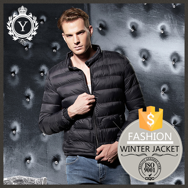 2016 COUTUDI Black Fashion Wholesale Italy Casual Hoodless Foldable Ultralight Man Jacket Bomber Down Jacket