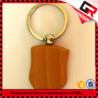 Promotion cheap custom wooden hockey keychains