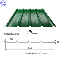 Metal Corrugated Tile Roofing or Colorful Coated Steel Roof Tile with SMP