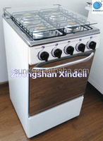 Deluxe Professional Energy Efficiency White Color Used In Home Gas Range With Grill Top four Cooker With Oven For Sale