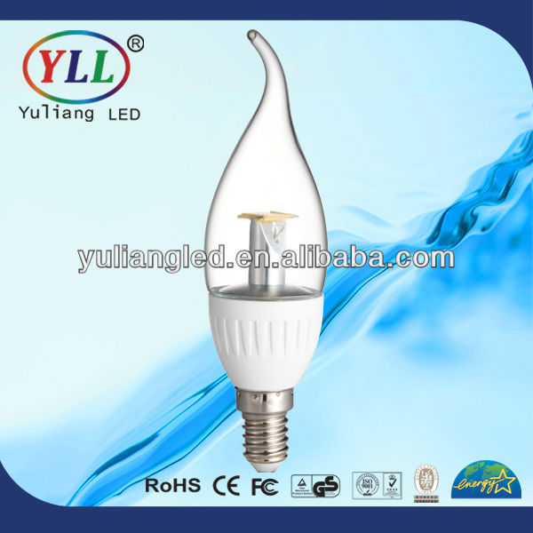2014 new style CRI>80Ra,400LM 4w e14 led candle light <strong>bulb</strong>