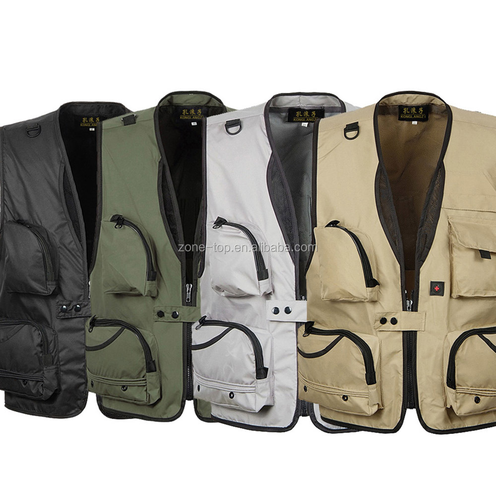 Multi-pocket Outdoor Fly Fishing Photography Sports Travelers Vest