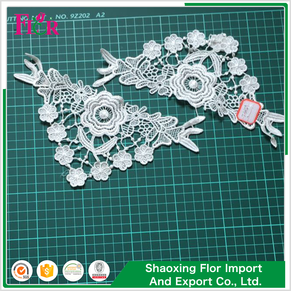 High korean latest hand crochet collars trimming