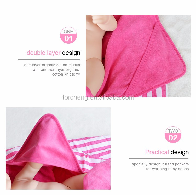 cute super soft Breathable organic cotton baby blanket