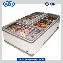 commercial chest freezer with sliding glass door