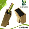 High quality durable custom design bamboo knife block/kitchen block/PP insert knife block