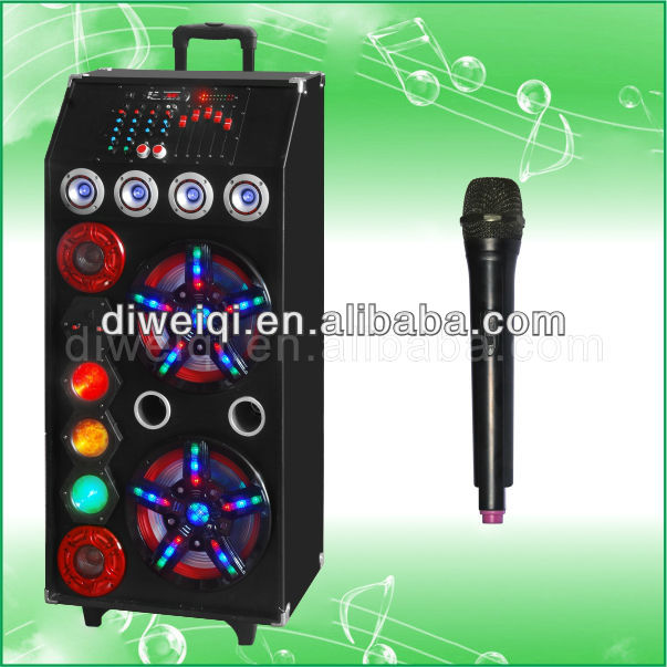Trolley wood DJ disco bluetooth multifunction speaker built-in rechargable with remote