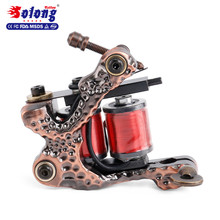 Solong new Tattoo Machine Coil Gun 10 Wraps Supplies copper best free tattoo machine coil