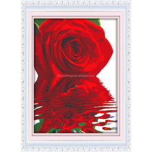 2016 Popular decoration rose oil painting by numbers kits