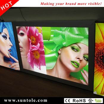 Outdoor backlit light box WD10-80 snap-open stretched banner