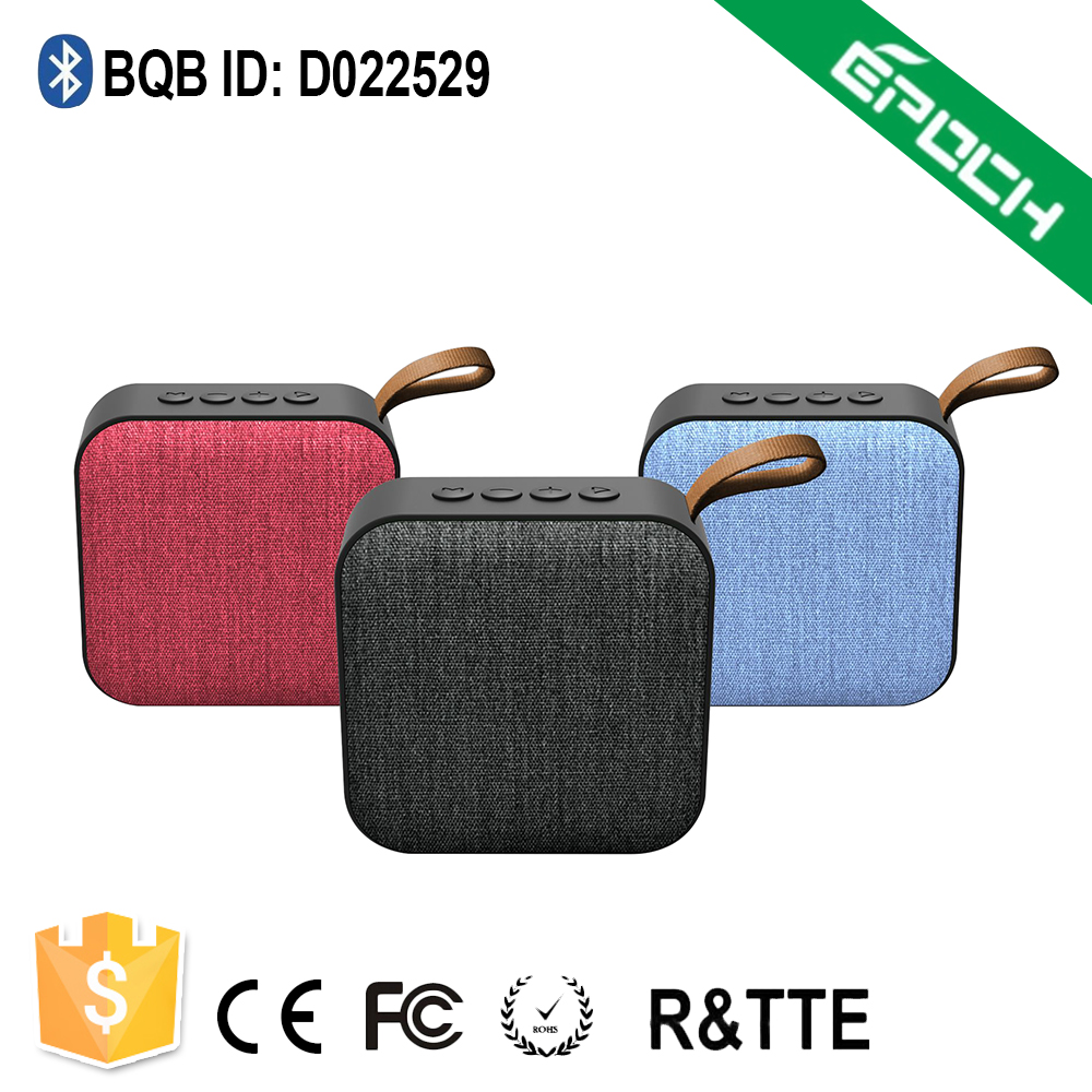rechargeble Li battery, handheld portable mini fabric cheap bluetooth <strong>speaker</strong>, wireless bt 4.2