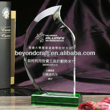 Clear Glass Crystal Darts Awards Shield with Engraving Plaque