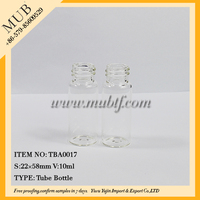 Screw glass tube bottle 10ml glass vials with cork
