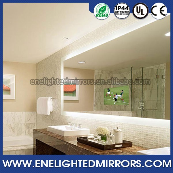 2016 Digital advertising magic LCD panel waterproof bathroom mirror with tv