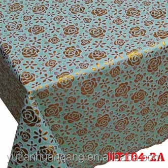 emboss vinyl PVC square lace tablecloth