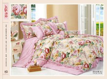 rich life flowers style 100% cotton bedding set