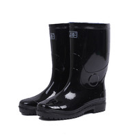 Safety PVC rain shoes with steel toe/industrial rain boots