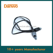 High Stretch Rubber Flat Bungee Cord with Hook