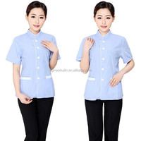 Summer work wear uniforms for hotel housekeeper uniforms for women cleaning