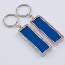 Creative car license plate key chain pendant digital license plate keychain