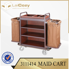 Hot sale housekeeping carts linen trolley service cart