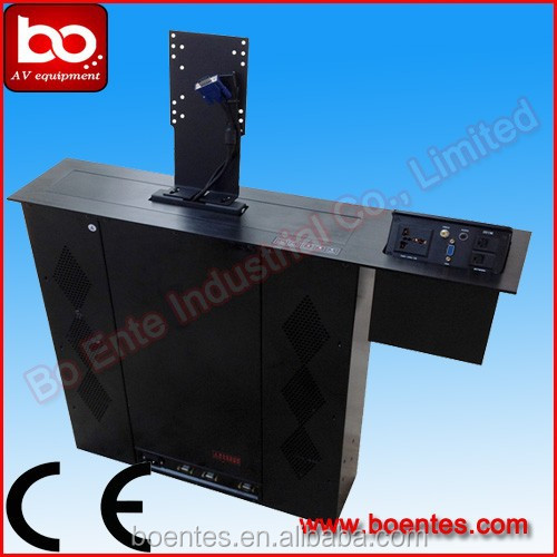LCD Monitor Lift with MIC & Desktop Socket/Motorized Screen Lift with pop up box