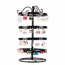 Shopping counter wire metal earring card tree jewelry display stand