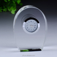 Cheap Crystal Desk Clock,Wedding Favor Crystal Clock