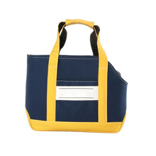 Fashion Design Side Open Bag Dog Pet Carrier for cat with canvas denim