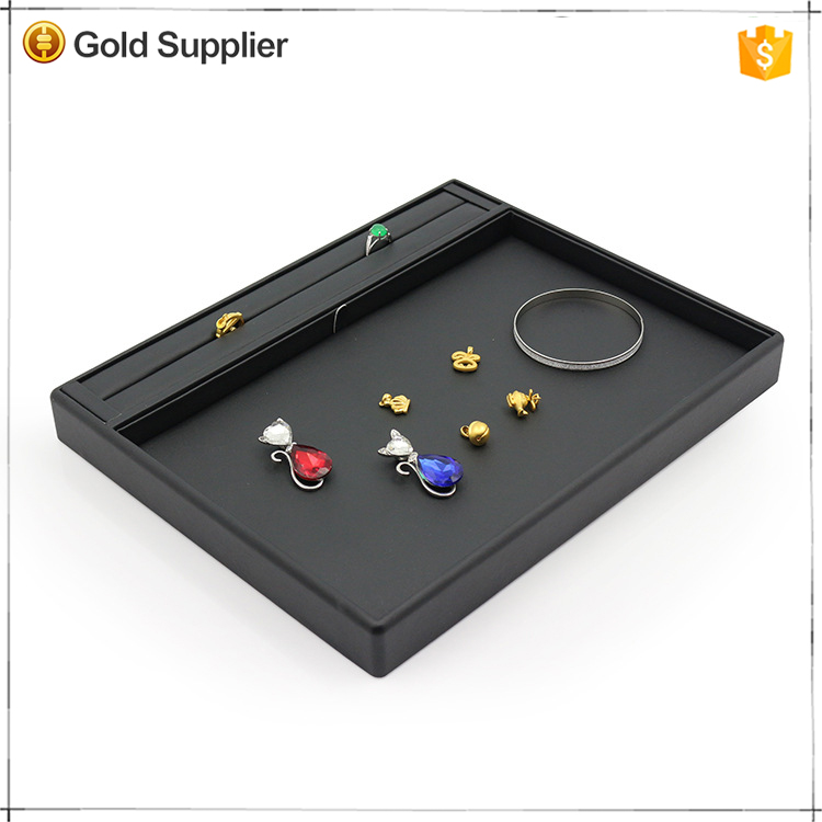 Customized design black PU leather jewelry display pad