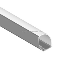 High quality wide light source recessed edge corner LED aluminum profile 30A with arc cover