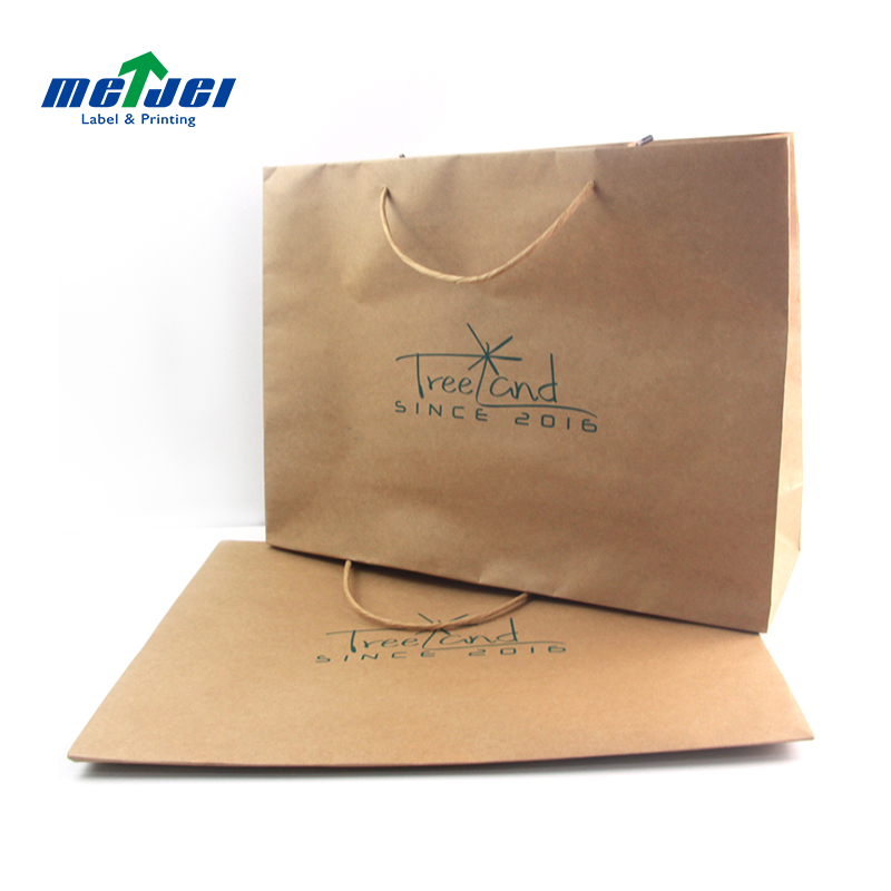 Customized size recycled brown kraft paper bags with handles