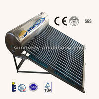 2016 Stainless steel vacuum 150 liter solar water heater