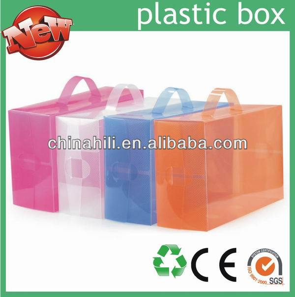 China Manufacture Wholesale OEM Custom Printed thin rectangular transparent plastic shoe storage boxes