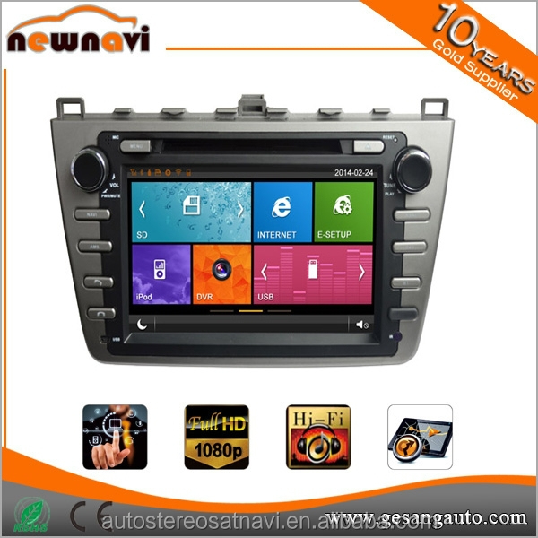 Dashboad double din Car DVD player for Mazda with GPS DVD/VCD/CD/SD/USB/IPOD/TV/GPS/BT/AVIN/Radio/Steering Wheel Control/Map