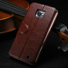 Original case for galaxy s2, cover for i9100, leather flip case for samsung i9100 galaxy s2