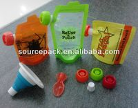 animal baby food pouch spoons with strong zipper with big lid cap