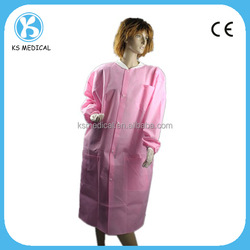 SMS pink lab coat nonwoven cleaning cloth
