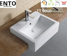 One piece bathroom sink and molded countertop hand basin