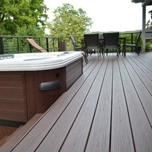 deep wood grain wpc co-extruded decking/waterproof wpc co-extruded decking board for outdoor