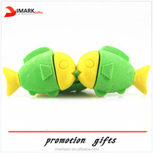 hot selling animal fish shaped erasers