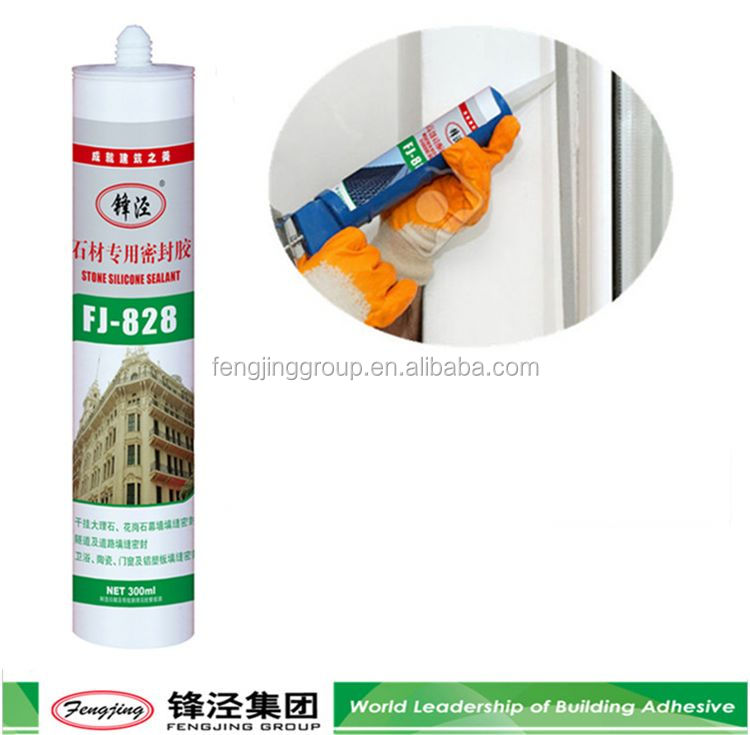 General purpose 300g silver non acetic silicon sealant with many colors
