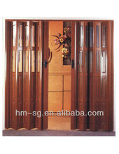 new design pvc folding door T6MM